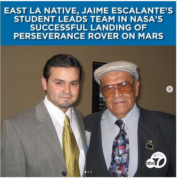 East LA native, who was Jaime Escalante's student, playing integral part in Mars mission